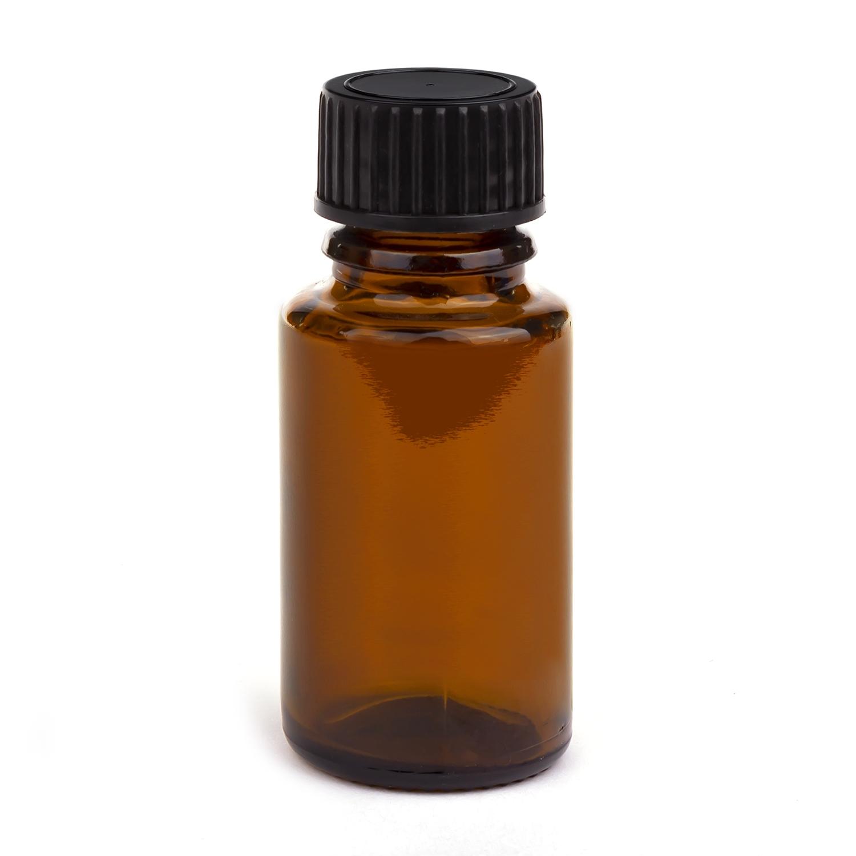 All-round fles met dop polypropyleen - 15 ml - bruin