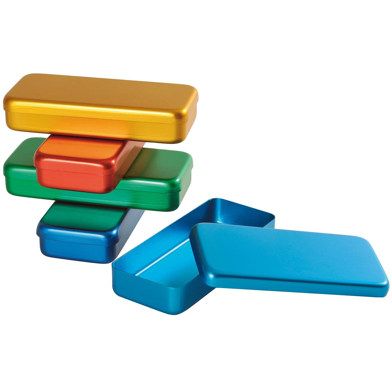 Instrumentendoos aluminium gekleurd